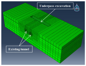 Impact of overhead excavation on an existing shield tunnel field monitoring and a full 3d finite element analysis